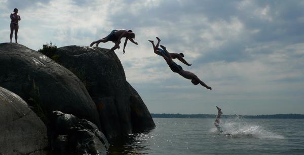 Petsson och Lae dyker